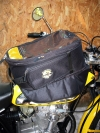 Bag for tank with magnetic support for all bike with steel tank