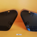 Pair of filter and tollbox cases, replica, for Ducati Desmo Yellow