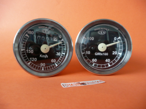 Speedometer and tachometer tools CEV perfect replica for all Ducati single with instruments CEV 60mm