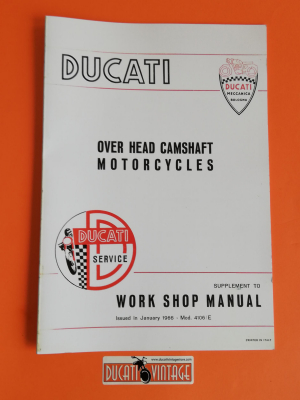 Work shop manual Ducati motocycle over head camshaft, Scrambler, Desmo, Mark3