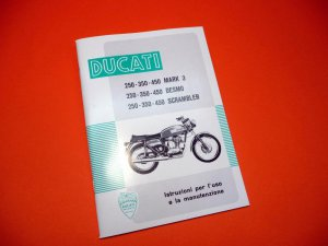 Book:  Instructions for use and maintenance (in italian) Scrambler,Desmo,Mark3