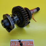 Crankshaft, original used in excellent condition, complete with spring,for all Ducati single-cylinder wide cases, Ducati Scrambler, Ducati Desmo, Ducati RT, etc.