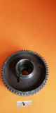 Clutch housing + crankshaft gear, original, used in excellent condition for all the Ducati single cylinder  wide cases 350 450cc