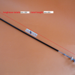 Back brake control tie-rod, L. 655 total, with stop switch for Ducati Twin with drum brake