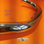 L. H. exhaust manifold Conti original vertical head - with 2 slights defects -Ducati 750GT, 750S, 750SS