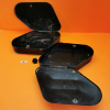 Pair of used storage cases original for Ducati motorcycles with outfitting for traffic police