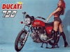 Pair of CONTI original silencer for Ducati 750 GT Sport and Super Sport