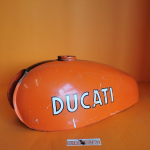 Tank used for Ducati Scrambler 125cc, in exceptional conditions except for slight dents