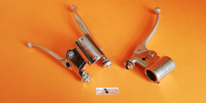 Complete original right and left lever group (see photo) used in excellent condition, for Ducati Scrambler 1st series