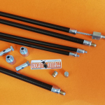 Complete kit cable + clamp for Ducati single cylinder Desmo Yellow Desmo Shotgun