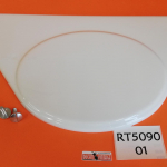 n. 1 original number plate in withe termoformed ABS with screw for Ducati RT
