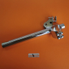 Verlicchi N. 1 RIGHT clip-on NEW, with a defect, fork Ø 35 Ducati Yellow and Ducati Silver Shotgun