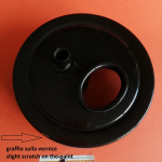 Original, used, DGM 7027S box for housing paper air filter, for single cylinder Ducati Scrambler 250 350 450 1st series and Ducati RT mod. road (black chassis)