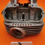 Original Ducati wide case 350cc single cylinder head in excellent condition, valve guides and new valves, exhaust ring thread excellent condition.